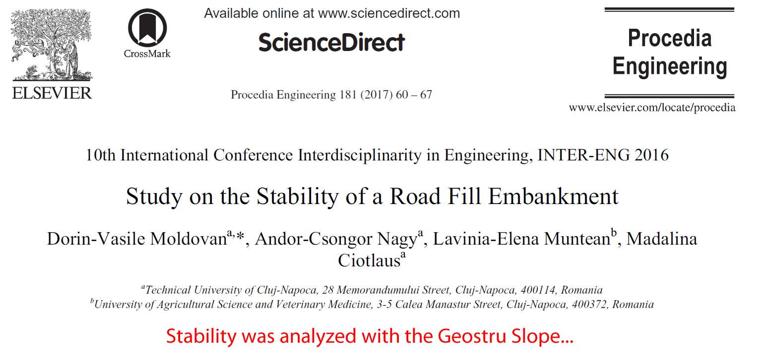 Study On The Stability Of Road Fill Embankment Geostru Eu