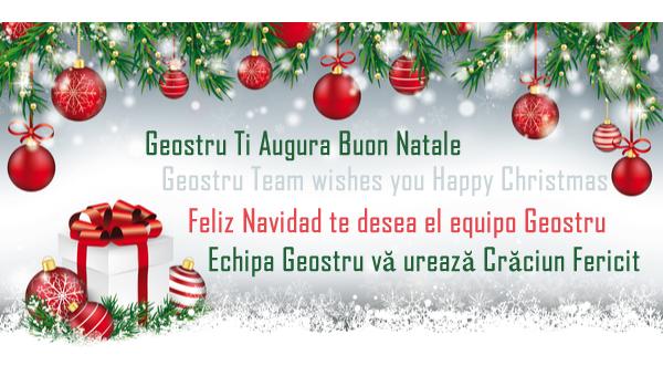 Geostru Ti Augura Buon Natale - Geostru Team wishes you Happy Christmas - Feliz Navidad te desea el equipo Geostru - Echipa Geostru vă urează Crăciun Fericit