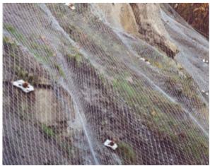 Stabilizare taluzurilor din sol sau rocă cu plase din oţel