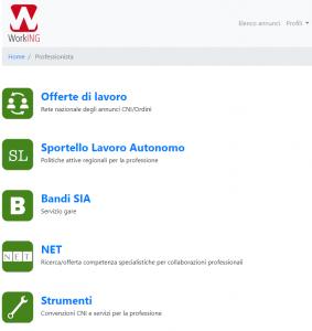 portale servizi working